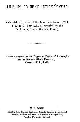 Life in Ancient Uttarapatha (An Old and Rare Book)