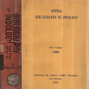 Annual Bibliography of Indology- Set of 2 Volumes (An Old and Rare Book)