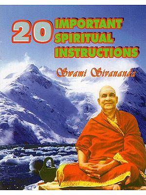 20 Important Spiritual Instructions