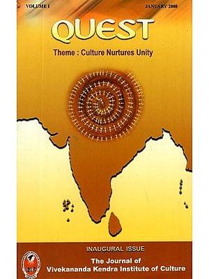 Quest- Theme Culture Nurtures Unity (Vol-I)
