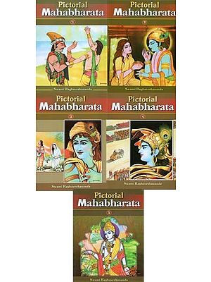 Pictorial Mahabharata (Set of 5 Volumes)