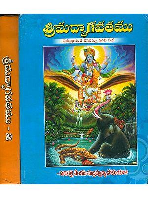 శ్రీమద్ భాగవతము: Shrimad Bhagavatam in Telugu (Set of 2 Volumes)