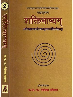 शक्तिभाष्यम: Saktibhasya- A Commentary on the Brahmasutras of Badarayana (Set of 2 Volumes)