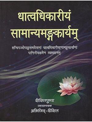 धात्वधिकारियम सामान्यमङ्गकार्यम: A Book on Dhatus