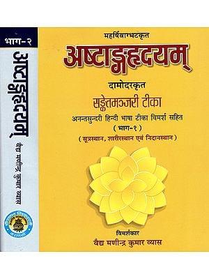अष्टांगहृदयम्: Astanga Hrdayam of Vagbhata With the Commentary Sanket Majari of Damodar Ranade and Anantsundari Hindi Commentary (Set of 2 Volumes)