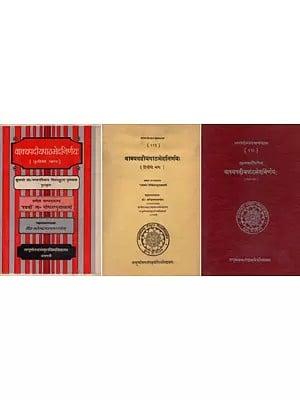 वाक्यपदीयपाठभेदनिर्णयः : Vakya Padiya Patha Bheda Nirnaya (Set of 2 Volumes) An Old and Rare Book