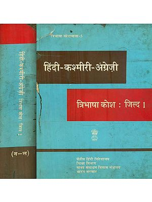 हिंदी - कश्मीरी - अंग्रेजी : Hindi, Kashmiri and English Dictionary in Set of 2 Volumes (An Old and Rare Book)