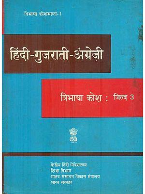 हिंदी - गुजराती - अंग्रेजी कोश : Hindi, Gujarati and English Dictionary  (An Old and Rare Book)
