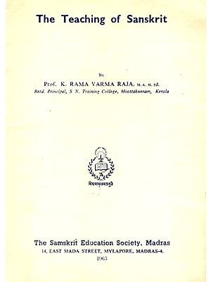 The teaching of Sanskrit (An Old and Rare Book)