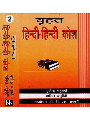 वृहत हिन्दी - हिन्दी कोश: Brihat Hindi - Hindi Dictionary (Set Of 2 Volumes)