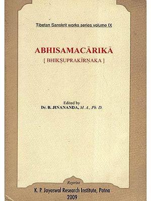 अभिसमाचारिका ( भिक्षु प्रकीर्णकः): Abhisama Carika (Bhiksu Prakirnaka)