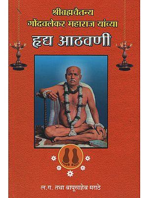 श्रीब्रह्मचैतन्य गोंदवलेकर महाराज यांच्या ह्लध आठवणी - Shri Brahmachaitanya Gondavalekar Maharaj Yanchaya Haldh Athavani (Marathi)