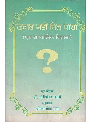जवाब नहीं मिल पाया (एक आध्यात्मिक जिज्ञासा) - The Answer Could Not Be Found (A Spiritual Curiosity)