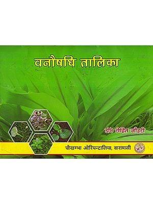 वनौषधि तालिका - Table of Medicinal Plants (Part-1)