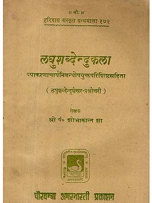 लघु शब्देन्दु कला - Laghu Shabadendu kala (An Old and Rare Book)