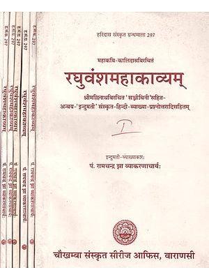 रघुवंशमहाकाव्यम्: Raghuvansha Mahakavyam (Set of 6 Volumes)