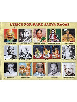 Lyrics For Rare Janya Ragas