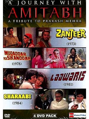 A Journey With Amitabh (A Tribute To Prakash Mehra) (4 Movies DVD Pack with English Subtitles)