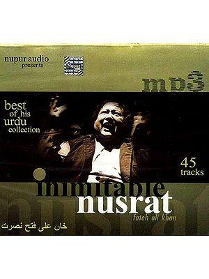 Best of His Urdu Collection Inimitable Nusrat Fateh Ali Khan <br>(45 Tracks) (MP3 CD)