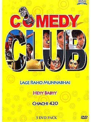 Comedy Club: Lage Raho Munnabhai, Heyy Babyy, Chachi 420 (Set of 3 Comedy Films (DVDs) with English Subtitles)