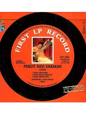 First LP Record of Pandit Ravi Shankar (Classical Instrumental) (Audio CD)