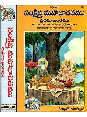 సంక్షిప్ట్ మహాభారతము: The Mahabharata in Telugu (Set of 2 Volumes)