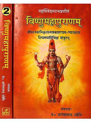 विष्णुमहापुराणम्: Vishnu Purana with the Commentary of Shridhara Swami (Set of 2 Volumes)