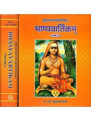 भाष्यवार्तिकम्(बृहदारण्यकोपनिषद्) - Brihadaranyaka Upanishad With Bhashya Vartikam of Sureshvaracharya and Shastra Prakishaka of Anandagiri (Set of 2 Volumes)