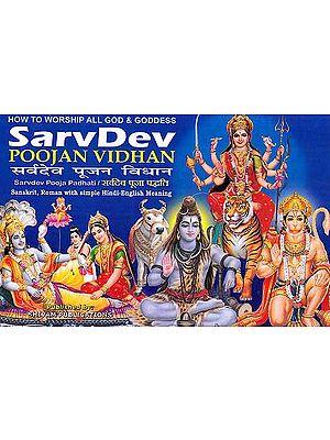 How to Worship All God and Goddess Sarvdev Poojan Vidhan (Sarvdev Pooja Padhati/ Sanskrit, Roman with Simple Hindi-English Meaning)