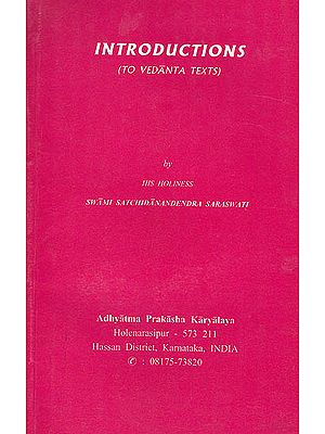 Introductions to Vedanta Texts
