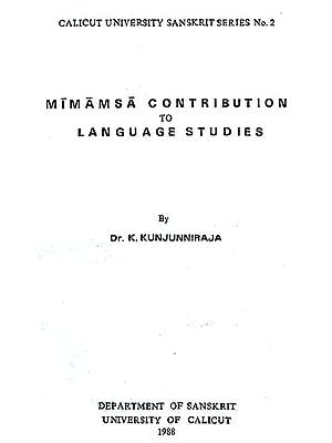 MIMAMSA CONTRIBUTION TO LANGUAGE STUDIES (Calicut University 