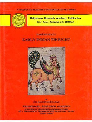 Darsanodaya: Early Indian Thought (A Rare Book)