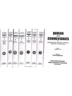 Rgveda with Four Commentaries (Skandasvamin, Udgitha, Venkata Madhava and Mudgala): Eight Volumes (Sanskrit Only)
