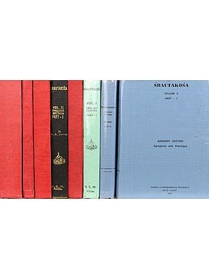 Srautakosa (Encyclopedia of Vedic Sacrificial Ritual Sanskrit and English) (In Eight Volumes)(An Old Book)