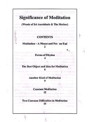 Significance of Meditation