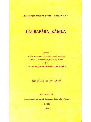Gaudapada-Karika : A Rare Book