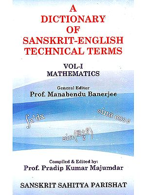 A Dictionary of Sanskrit English Technical Terms (Mathematics)