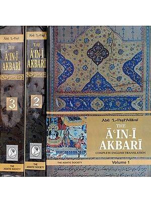 The A'In-I Akbari  in 3 Volumes)