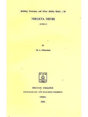 Nirukta Notes (Series 1): A Rare Book