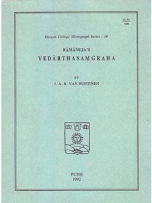 Ramanuja's Vedarthasamgraha (A Rare Book)