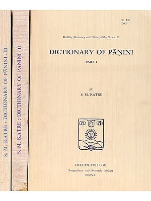 Dictionary of Panini (In Roman) (Three Volumes): An old and Rare Book