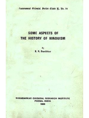 Some Aspects of The History of Hinduism (A Rare Book)