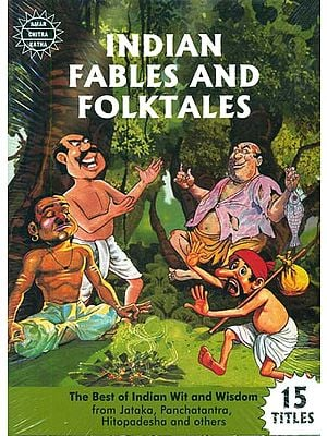 Indian Fables And Folktales (The Best of Indian Wit and Wisdom from Jataka, Panchatantra, Hitopadesha and others) (Set of 15 Books) (Comic Book)