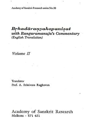 Brhadaranyakopanisat: With Rangaramanuja's Commentary (Volume II)