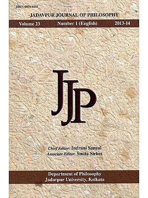 Jadavpur Journal of Philosophy: Volume 23 Number 1(English) 2013-14