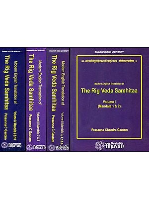 Modern English Translation of The Rig Veda Samhitaa (Set of 4 Volumes)