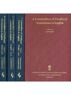 A Compendium of Tirukkural Translation in English (Set of 4 Books)
