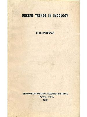 Recent Trends in Indology (An Old and Rare Book)