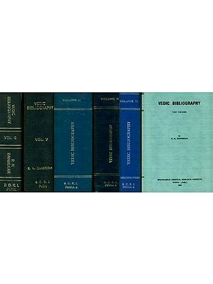 Vedic Bibliography - An Old and Rare Book (Set of 6 Volumes)