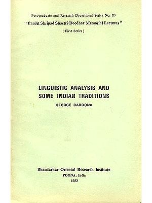 Linguistic Analysis and Some Indian Traditions (An Old and Rare Book)